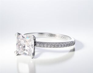 PAVE SOLITAIRE RING ENG086